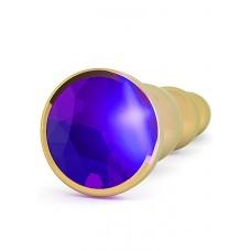 """Анальная пробка 4,8"""" R3 RICH Gold/Purple Sapphire SH-RIC003GLD"""