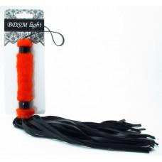 Нежная плеть с красным мехом BDSM Light 740002ars