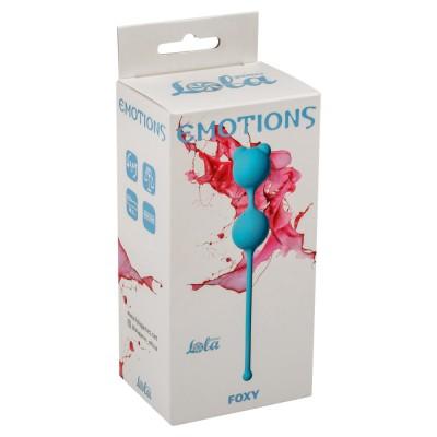Вагинальные шарики Emotions Foxy turquoise 4001-03Lola
