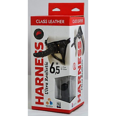 "Кожаные трусики Harness Ultra Realistic 6,5"" 630303ru"