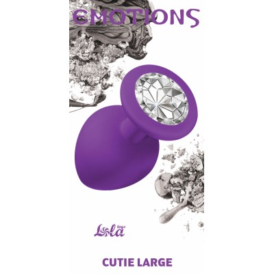 Анальная пробка Emotions Cutie Large Purple clear crystal 4013-06Lola