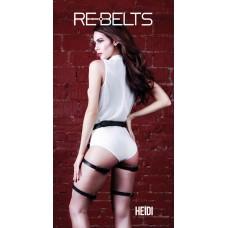 Гартеры черные Heidi Black 7734rebelts