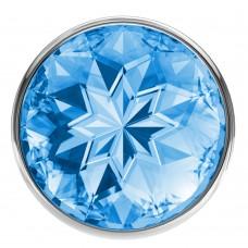 Анальная пробка Diamond Light blue Sparkle Large 4010-04Lola