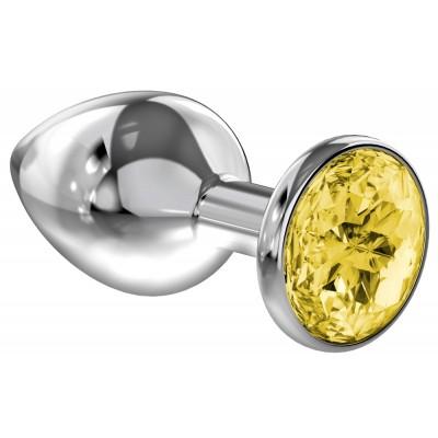 Анальная пробка Diamond Yellow Sparkle Large 4010-02Lola