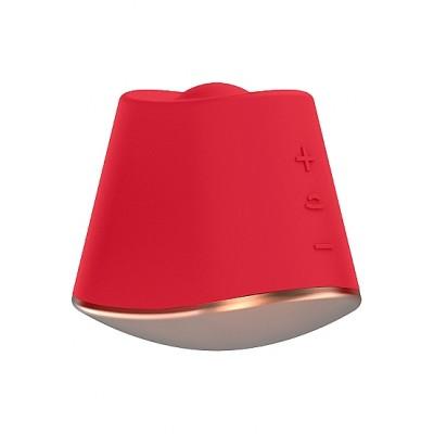 Клиторальный стимулятор Rotating & Vibrating Clitoral Stimulator Dazzling Red SH-ELE009RED
